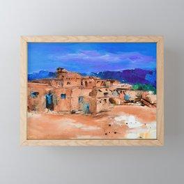 Taos Pueblo Village Framed Mini Art Print