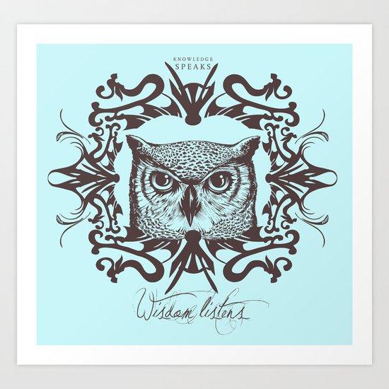 Wisdom Listens Art Print