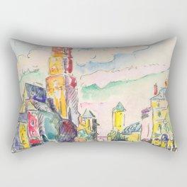 """Paul Signac """"Rodez"""" Rectangular Pillow"""