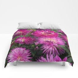 Pretty in Pink Dahlia 2 Comforters